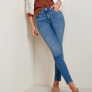 Old Navy High Rise Skinny Jeans Medium Blue Wash